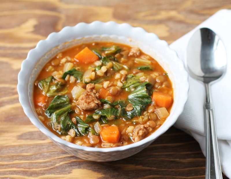 lentil soup, barley, escarole, soup, barley soup