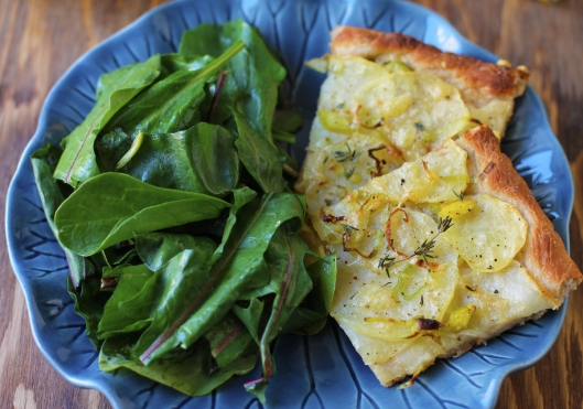 Potato and Leek Flatbread Pizza, flatbread pizza, pizza, potato pizza, potato flatbread