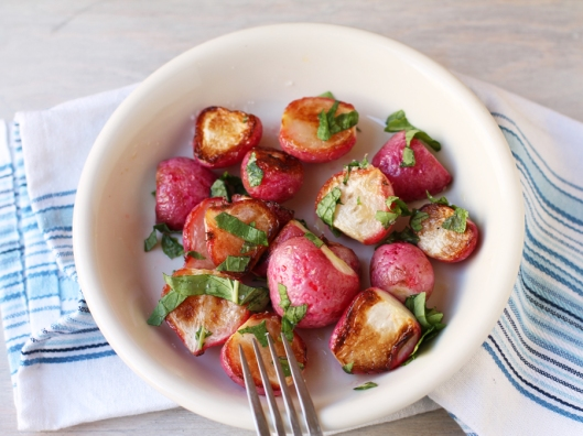 radishes, roasted radishes, roasted vegetables