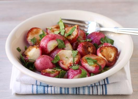 radishes, roasted radishes, roasted vegetables