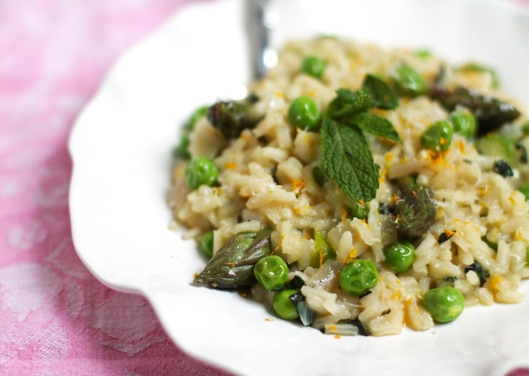 risotto, spring risotto, peas, asparagus