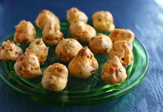 chorizo, cheese puffs, manchego, chorizo and manchego cheese puffs, gougeres