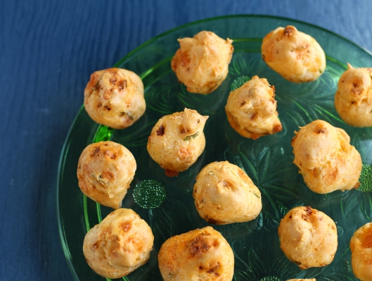 chorizo, cheese puffs, manchego cheese, gougeres, gougere, chorizo and manchego cheese puffs, appetizers, elegant appetizers, party appetizers