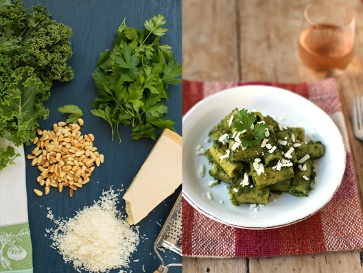 pesto, kale, kale pesto, parsley pesto, winter, winter pesto, pasta